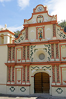 The restored 17th century Iglesia de San Matias church in the Lenca Indian village of La Campa, Lempira, Honduras