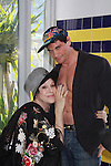 "Days Of Our Lives Louise Sorel poses with Billy Freda (Mr.Romance)  Promo shoot for the annual Broadway Extravaganza in honor of Jane Elissa's Candidacy for Leukemia & Lymphoma Society Woman of the Year and for Hats for Health on April 23, 2012 at the Marriott Marquis Hotel, New York City, New York. In the shoot are Days of Our Live Louise Sorel ""Vivian"", Broadway Bonnie and Clyde Melissa VanDer Schyff and Clay Elder, Dale Badway (Creator Fame-Wall) and host for the upcoming event, Corey Brunish (producer of Bonnie & Clyde) and Billy Freda, Missy Modell (Photo by Sue Coflin/Max Photos)"
