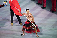 PYEONGCHANG,SOUTH KOREA,09.FEB.18 - OLYMPICS - Olympic Winter Games PyeongChang 2018, official opening ceremony. Image shows Pita Taufatofua, flag bearer of Tonga. Photo: GEPA pictures/ Joel Marklund / Copyright : Explorer-media
