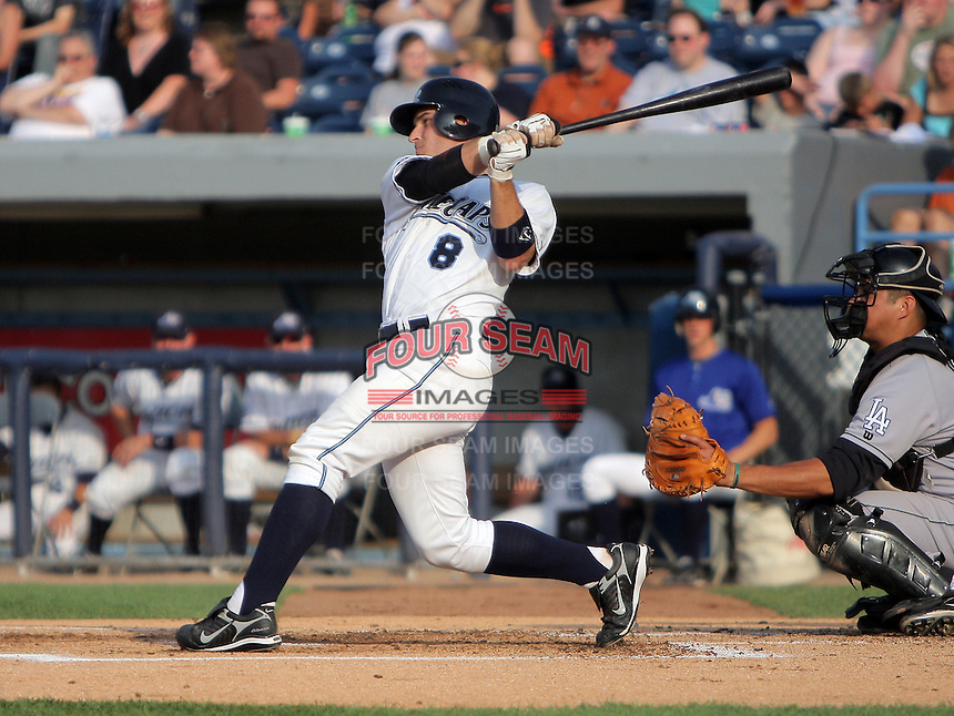 January 20, 2010:  Brandon Douglas of the West Michigan Whitecaps during a game at Fifth Third Ballpark in Comstock Park, FL.  The White Caps are the Low-A affiliate of the Detroit Tigers.  Photo By Emily Jones/Four Seam Images