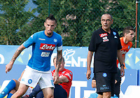 Marek Hamsik  Maurizio Sarri  of Napoli  during a preseason friendly soccer match against Aunania in Dimaro's Stadium   12 July 2017  .it