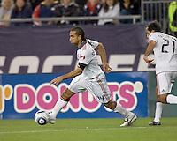 Goal scorer, Toronto FC midfielder Dwayne De Rosario (14) starts forward. The New England Revolution defeated Toronto FC, 4-1, at Gillette Stadium on April 10, 2010.
