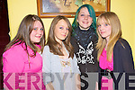 Laura O'Shea, Blathnaid Buckley, Emma O'Connell and Dawn Foley at the Killorglin Rowing club fundraiser in the Manor Inn, Killorglin on Saturday night.