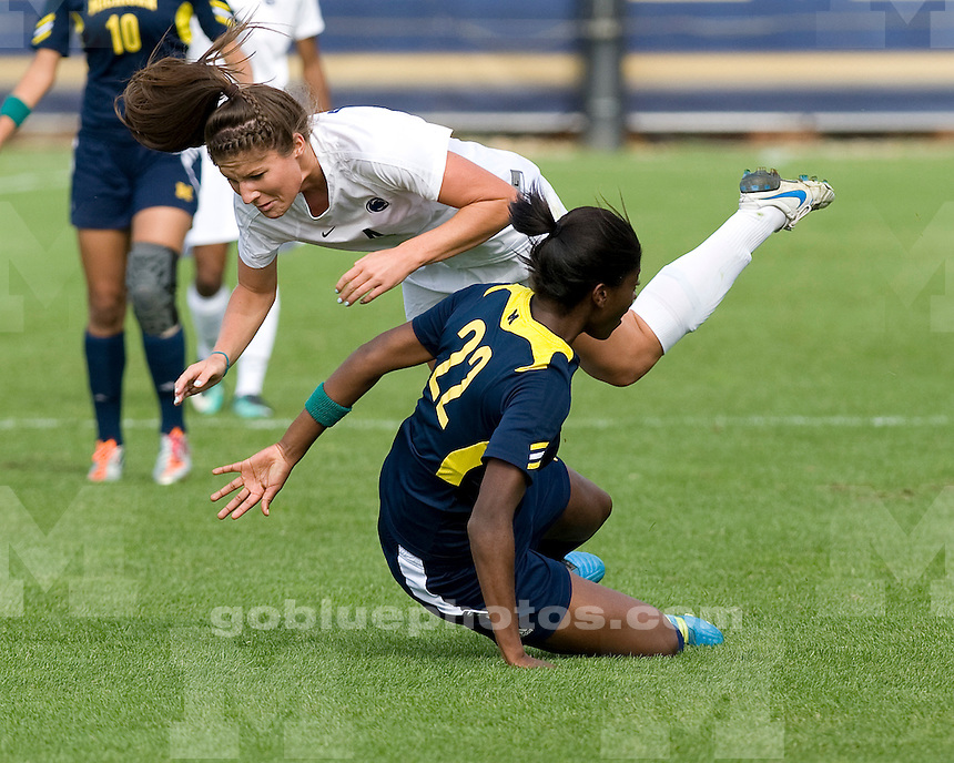The University of Michigan women's soccer team lost 4-0 to Penn State University at the UM Soccer Complex in Ann Arbor, Mich., on October 23, 2011.