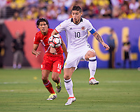 East Rutherford, NJ - June 17, 2016: Colombia advanced on penalty kicks 4-2 after tying Peru 0-0 during regulation time  at the quarterfinals of the Copa America Centenario at Metlife Stadium.