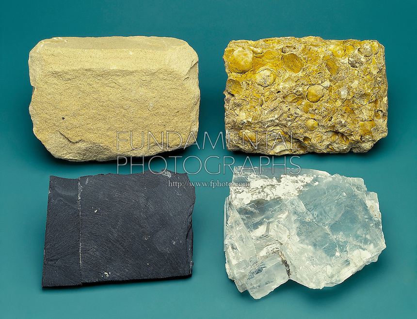 SEDIMENTARY ROCK FORMATION TYPES<br />