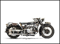 BNPS.co.uk (01202 558833)<br /> Pic: AlexBraun/Bonhams/BNPS<br /> <br /> Untouched gem to sell for &pound;100,000.<br /> <br /> A motorbike owner is set to make a fortune after putting a vintage machine he bought for just &pound;200 up for sale for a staggering &pound;100,000.<br /> <br /> Glyn Chambers snapped up the 1930 Brough Superior in the 70s when the market for old pre-war bikes was at rock bottom - and he was so hard-up at the time he came to a gentlemen's agreement with its previous owner to pay off the agreed sum at &pound;5 a month.<br /> <br /> But savvy Mr Chambers has patiently watched demand for vintage British bikes grow over the past 40 years and his stunning two wheeler is now worth 500 times what he paid for it.<br /> <br /> Amazingly the bike has remained untouched for 85 years with not a single part of it ever being replaced or restored.<br /> <br /> Mr Chambers has now put the highly sought-after Brough up for sale - and experts say collectors are willing to fork out as much as &pound;100,000 to get their hands on the treasured bike.