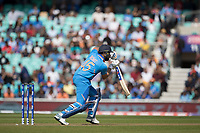 Rohit Sharma (India) pushes into the covers during India vs New Zealand, ICC World Cup Warm-Up Match Cricket at the Kia Oval on 25th May 2019