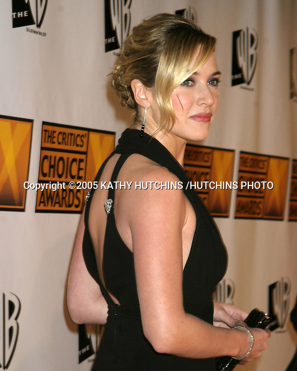 ©2005 KATHY HUTCHINS /HUTCHINS PHOTO.10TH ANNUAL CRITICS CHOICE AWARDS.WILTERN THEATER.LOS ANGELES, CA.JANUARY 10, 2005..KATE WINSLET
