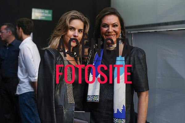 Sao Paulo, Brasil - 31/10/2013 - Ana Paula Carneiro e Beth Szafir no desfile de Patricia Motta durante o SPFW  - Inverno 2014. <br /> Foto : Barbara Dutra/ FOTOSITE