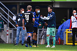 Nach dem Spiel: Laurent Jans (SC Paderborn #20) und Sebastian Rudy (TSG 1899 #16) klatschen ab.<br />