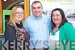 All smiles at the Kerry Homes and Business Expo held in the Killarney Outlet Centre last weekend were Fiona O'Brien Maxwell, Liam Brosnan and Mary B Teahan.......