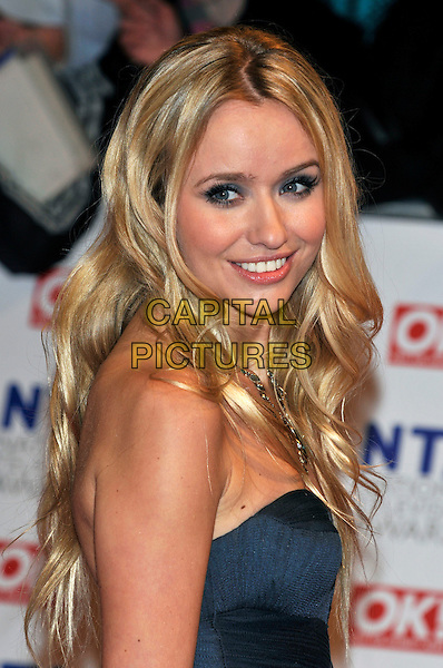 SAMMY WINWARD.The 15th National Television Awards held at the O2 Arena, London, England..January 20th, 2010.NTA NTAs headshot portrait blue teal strapless side.CAP/PL.©Phil Loftus/Capital Pictures.