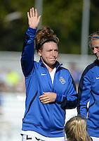Kansas City, MO - Sunday September 04, 2016: Caroline Kastor prior to a regular season National Women's Soccer League (NWSL) match between FC Kansas City and the Sky Blue FC at Swope Soccer Village.