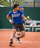 Paris, France, 30 May, 2017, Tennis, French Open, Roland Garros, Man's doubles Jean-Julien Rojer (NED) / Horia Tecau (ROU) (R)<br /> Photo: Henk Koster/tennisimages.com