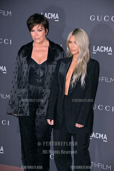 Kris Jenner & Kim Kardashian at the 2017 LACMA Art+Film Gala at the Los Angeles County Museum of Art, Los Angeles, USA 04 Nov. 2017<br /> Picture: Paul Smith/Featureflash/SilverHub 0208 004 5359 sales@silverhubmedia.com