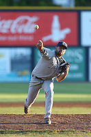 Brett Kennedy (26) of the Tri-City Dust Devils pitches during a game against the Vancouver Canadians at Nat Bailey Stadium on July 23, 2015 in Vancouver, British Columbia. Tri-City defeated Vancouver, 6-4. (Larry Goren/Four Seam Images)