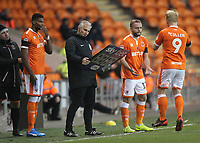 Blackpool's Interim Manager Terry McPhillips   makes a double substitution<br /> <br /> Photographer Mick Walker/CameraSport<br /> <br /> The EFL Sky Bet League One - Blackpool v Bristol Rovers - Saturday 3rd November 2018 - Bloomfield Road - Blackpool<br /> <br /> World Copyright © 2018 CameraSport. All rights reserved. 43 Linden Ave. Countesthorpe. Leicester. England. LE8 5PG - Tel: +44 (0) 116 277 4147 - admin@camerasport.com - www.camerasport.com