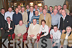 ELECTRIC PARTY: Tommy Leahy, Ballyseedy, Tralee (seated centre) who is retiring from the ESB after 40 years enjoying his retirement party in Gally's Bar & Restaurant, Tralee with his wife Geraldine, sons David, Tommy and John and lots of family, friends and work colleagues.   Copyright Kerry's Eye 2008