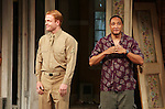 Brendan Griffin & Damon Gupton.during the Broadway Opening Night Performance Curtain Call for 'Clybourne Park' at the Walter Kerr Theatre in New York City on 4/19/2012