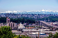 A view toward West Seattle from the opposite hillside, Washington State.