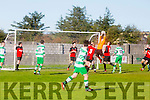 In Action Park's Tommy Moriarty at the   St. Brendan's Park FC v Killarney Celtic at Christy Leahy Park on Sunday