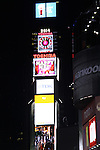 News Eve in Times Square, NYC after The Times Square Broadway Royale on New Years Eve 2014 at the legendary Copacabana, New York City, New York. (Photo by Sue Coflin/Max Photos)