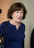 United States Senator Susan Collins (Republican of Maine) arrives to visit the US Senate Sensitive Compartmented Information Facilities (SCIF) in the US Capitol in Washington, DC to view the latest FBI report on Judge Brett Kavanaugh on Thursday, October 4, 2018. <br /> Credit: Ron Sachs / CNP<br /> (RESTRICTION: NO New York or New Jersey Newspapers or newspapers within a 75 mile radius of New York City)