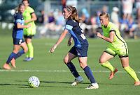 Kansas City, MO - Saturday June 25, 2016:  Heather O'Reilly, Merritt Mathias during a regular season National Women's Soccer League (NWSL) match at Swope Soccer Village.