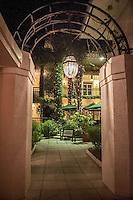 Nitelife on Third... Archway leads to Old Naples Pub, along Third Street South, Naples, Florida, USA... Photo by Debi Pittman Wilkey