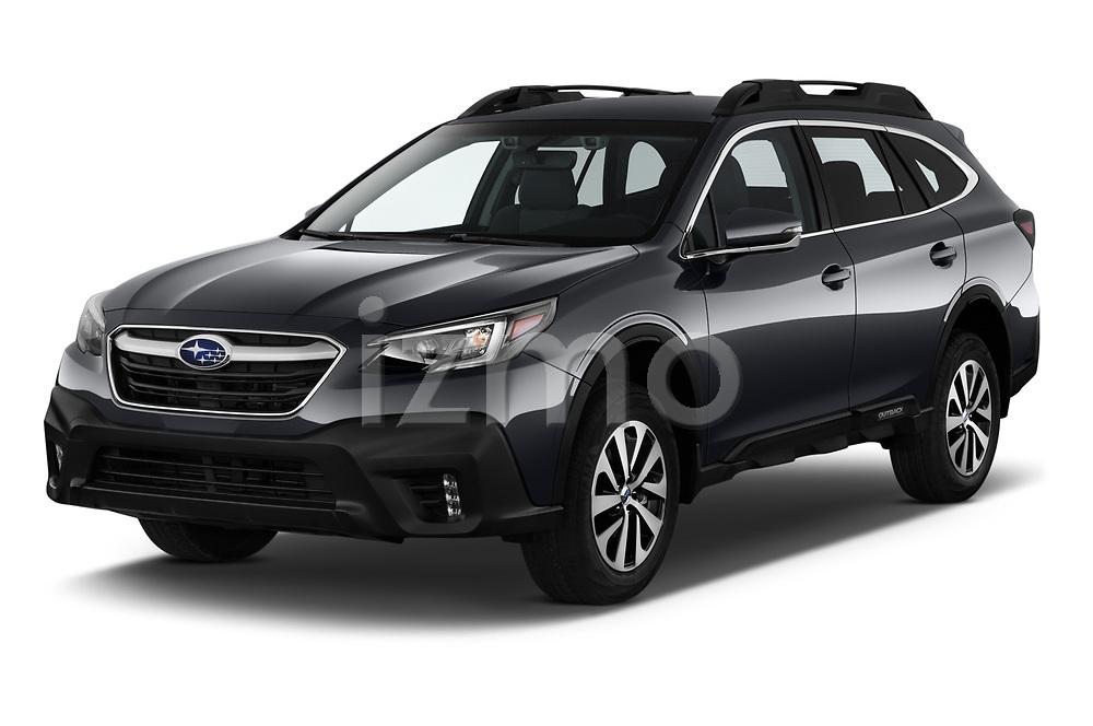 2020 Subaru Outback Premium 5 Door Wagon Angular Front automotive stock photos of front three quarter view