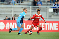 Boyds, MD - Saturday May 6, 2017: Leah Galton, Estelle Johnson during a regular season National Women's Soccer League (NWSL) match between the Washington Spirit and Sky Blue FC at Maureen Hendricks Field, Maryland SoccerPlex.