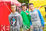 Pictured at Feile na Bláth at Tralee town park on Saturday From Left: From left: Johnny Downey, Jake Moore and Sean Daly.