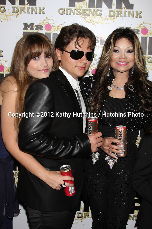 "LOS ANGELES - OCT 11:  Paris Jackson, Prince Michael Jackson, LaToya Jackson arrives at the ""Mr. Pink"" Energy Drink Launch at Beverly Wilshire Hotel on October 11, 2012 in Beverly Hills, CA"