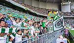 Stockholm 2014-05-24 Fotboll Superettan Hammarby IF - Varbergs BoIS FC  :  <br /> Hammarbys supporter under matchen mellan Hammarby och Varberg<br /> (Foto: Kenta J&ouml;nsson) Nyckelord:  Superettan Tele2 Arena HIF Bajen Varberg BoIS supporter fans publik supporters