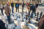 Playing Chess In Baku Boulevard Promenade  Along The Caspian Sea
