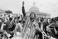 17 Mar 1980, Washington, DC, USA --- Operation PUSH (People United to Serve Humanity) was founded by African-American, Reverend Jesse Jackson, a political activist for civic rights, notably those of the black community. During the operation thousands of protesters demonstrated, in front of the White House, for employment, against the rising cost of living, and the politics of American President Jimmy Carter. --- Image by © JP Laffont/Sygma/Corbis