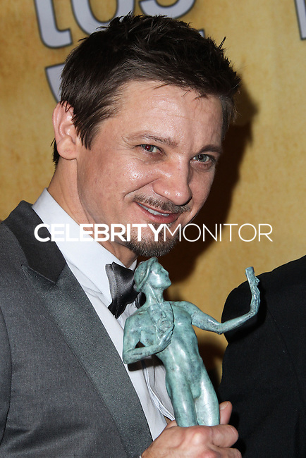 LOS ANGELES, CA - JANUARY 18: Jeremy Renner in the press room at the 20th Annual Screen Actors Guild Awards held at The Shrine Auditorium on January 18, 2014 in Los Angeles, California. (Photo by Xavier Collin/Celebrity Monitor)