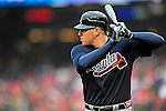 31 March 2011: Atlanta Braves first baseman Freddie Freeman in action during Opening Day play against the Washington Nationals at Nationals Park in Washington, District of Columbia. The Braves shut out the Nationals 2-0 to start off the 2011 Major League Baseball season. Mandatory Credit: Ed Wolfstein Photo