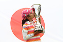 Ai Miyazato (JPN),JULY 24, 2011 - Golf :Ai Miyazato of Japan kisses the trophy after winning the Evian Masters at the Evian Masters Golf Club in Evian-les-Bains, France. (Photo by Yasuhiro JJ Tanabe/AFLO)