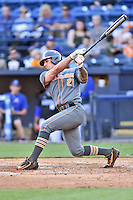 Tennessee Volunteers designated hitter Dominick Cammarata (21) swings at a pitch during a game against the UNC Asheville Bulldogs at McCormick Field on March 15, 2016 in Asheville, North Carolina. The Volunteers defeated the Bull Dogs 7-3. (Tony Farlow/Four Seam Images)