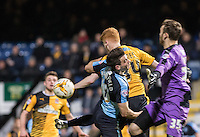 during the Sky Bet League 2 match between Cambridge United and Wycombe Wanderers at the R Costings Abbey Stadium, Cambridge, England on 1 March 2016. Photo by Andy Rowland / PRiME Media Images.