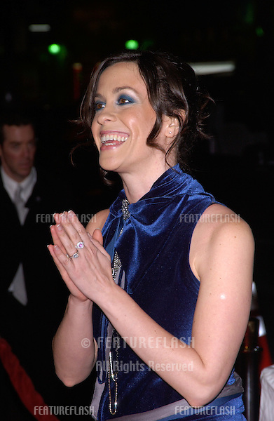 Dec 7, 2004; Los Angeles, CA: Singer ALANIS MORISSETTE at the Los Angeles premiere of Blade: Trinity..