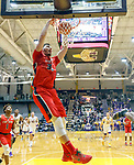 Stony Brook defeats UAlbany  69-60 in the America East Conference tournament quaterfinals at the  SEFCU Arena, Mar. 3, 2018.  Jakub Petrus (#32) with a dunk late in the game.