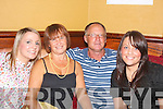 Night to Remember.-----------------.L-R Gerldine Griffin,Mary and Brian Carmody and Stacey O Mahony having a ball at John and Marian O Sullivans Munster Bar Ballymullin 20 years ownership celebration.   Copyright Kerry's Eye 2008