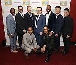 1st row: Chesney Snow, Steven 'HeaveN' Cantor 2nd row: Arbender Robinson, Adam Bashian, David Abeles, James Snyder, Nicholas Ward, Justin Guarini and Telly Leung attends the Broadway Opening Night Performance Press Reception for  'In Transit' at Circle in the Square Theatre on December 11, 2016 in New York City.