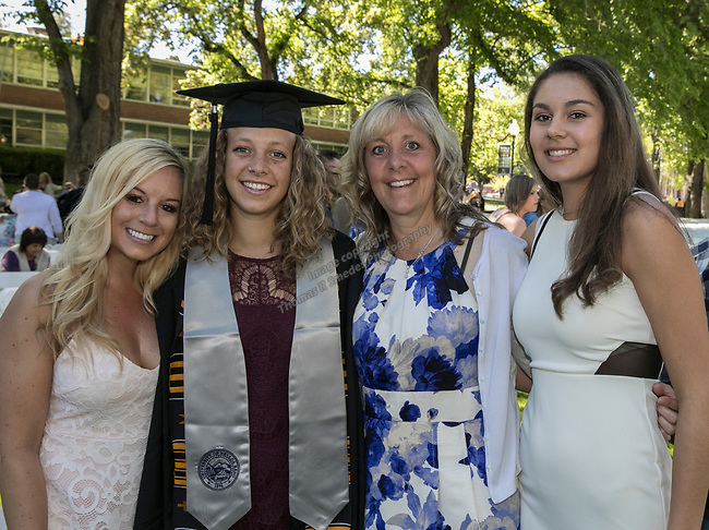 Mallory, Laura, Brenda and Mary Redl during the University of Nevada College of Agriculture, Biotechnology & Natural Resources and College of Education graduation ceremony on Friday evening, May 19, 2017.