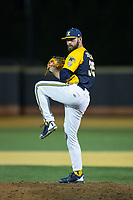 Kent State Golden Flashes relief pitcher Robert Zeigler (35) in action against the Wake Forest Demon Deacons in game two of a double-header at David F. Couch Ballpark on March 4, 2017 in  Winston-Salem, North Carolina.  The Demon Deacons defeated the Golden Flashes 5-0.  (Brian Westerholt/Four Seam Images)