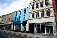 Pictured: A general view of Castle Street, Swansea. Friday 03 August 2018<br /> Re: The effect of increasing business rates and internet retail giant Amazon has had on the High Street in Swansea, Wales, UK.