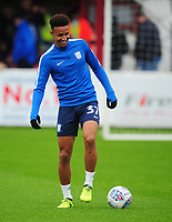 Preston North End's Callum Robinson<br /> <br /> Photographer Kevin Barnes/CameraSport<br /> <br /> The Carabao Cup - Accrington Stanley v Preston North End - Tuesday 8th August 2017 - Crown Ground - Accrington<br />  <br /> World Copyright &copy; 2017 CameraSport. All rights reserved. 43 Linden Ave. Countesthorpe. Leicester. England. LE8 5PG - Tel: +44 (0) 116 277 4147 - admin@camerasport.com - www.camerasport.com